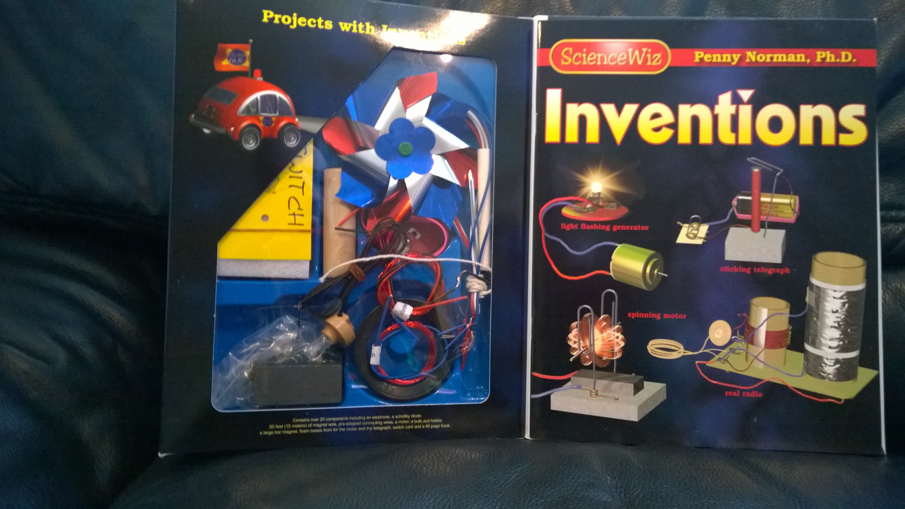 Science Wiz Inventions Kit Penny Norman, Ph.D. Ages 8 - 80 Electricity Projects